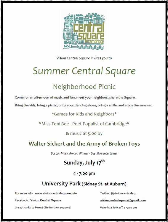 Summer Central Square - July 17 - Be There or Be Square