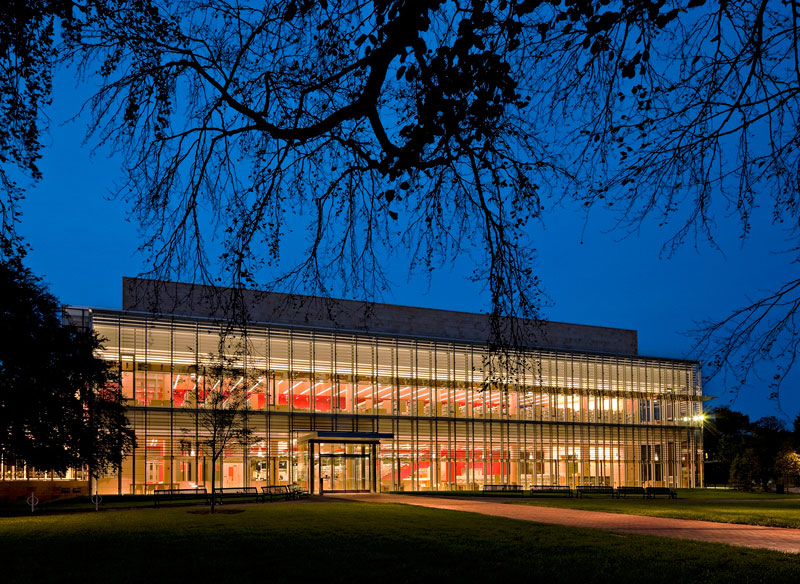 Cambridge Public Library at Night