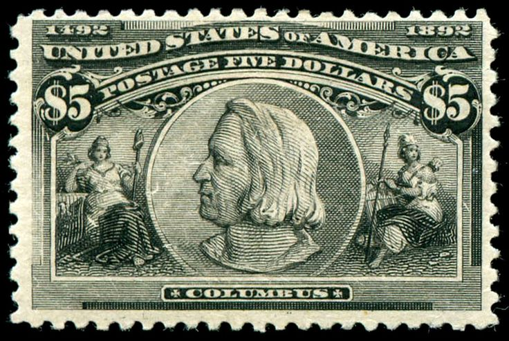Columbus $5 stamp