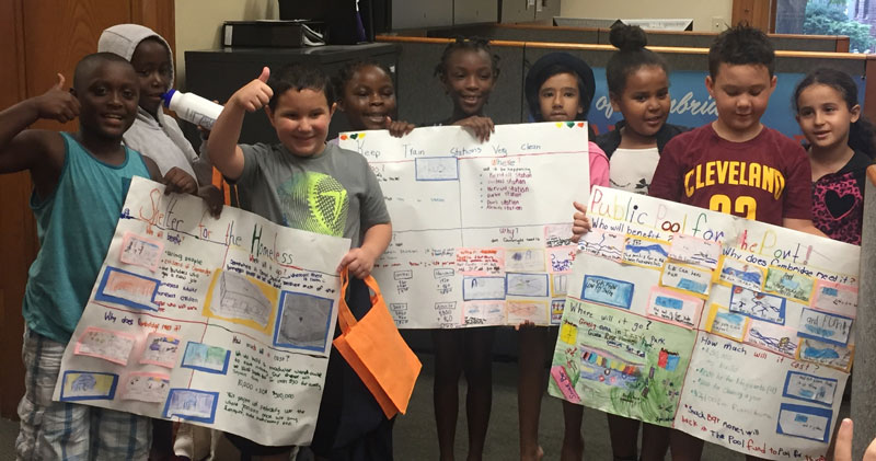 Summer school students submit project ideas for the City of Cambridge's Participatory Budgeting Process