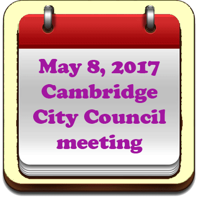 May 8, 2017 Cambridge City Council meeting