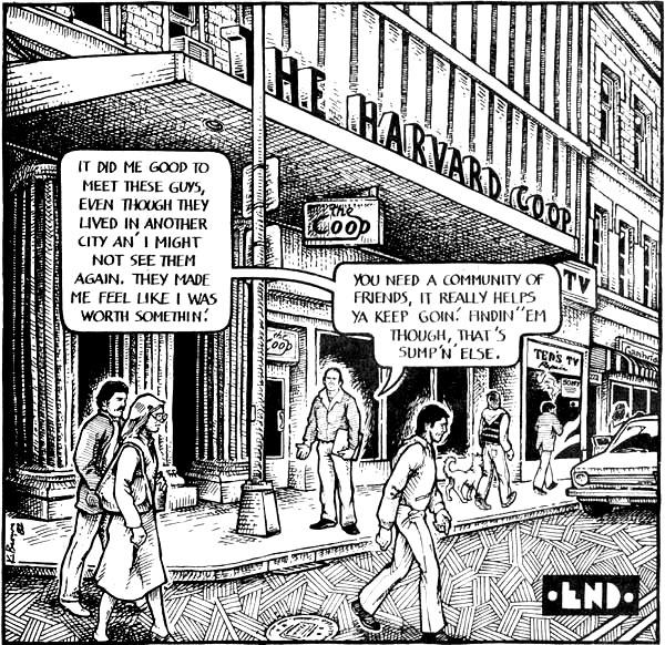 Harvard Square - from an American Splendor story by Harvey Pekar