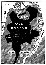 Original Boston shoreline