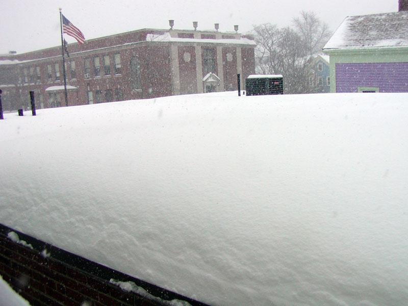 Rooftop snow - 364 Broadway